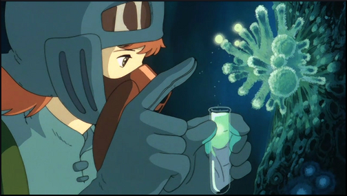 nausicaa and the valley of the wind anime film toxic forest samples