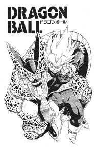 DBZ cover Vegeta vs cell