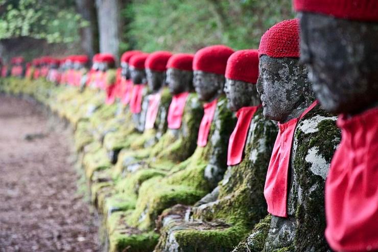 Jizo statue bound
